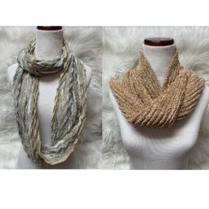 NEW Charter Club Lot of 2 Woven & Knit Scarfs